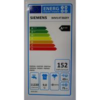 Siemens WM14T360FF - Étiquette énergie