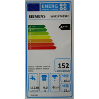 Siemens WM14T419FF - Étiquette énergie