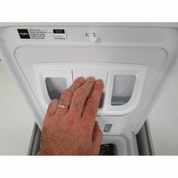 Whirlpool TDLR65330 - Bouton de retrait du bac à produits