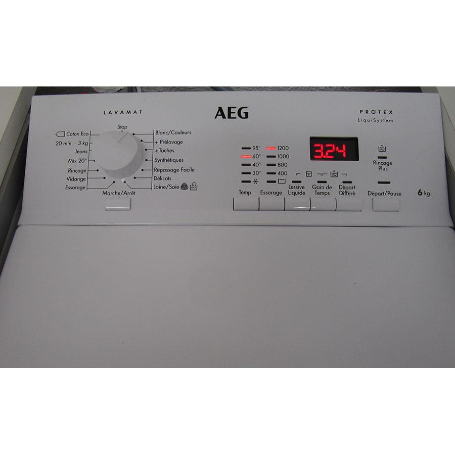 AEG L61261TL - Panneau de commandes