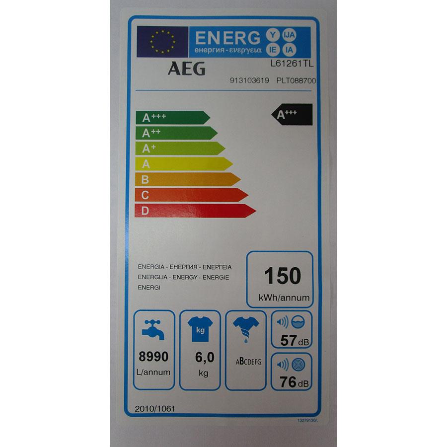 AEG L61261TL - Étiquette énergie