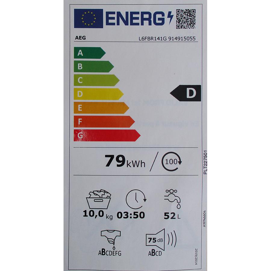 AEG L6FBR141G - Nouvelle étiquette énergie