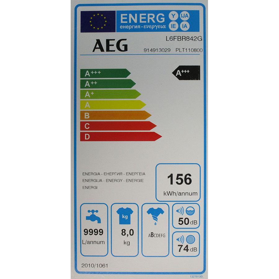 AEG L6FBR842G - Étiquette énergie