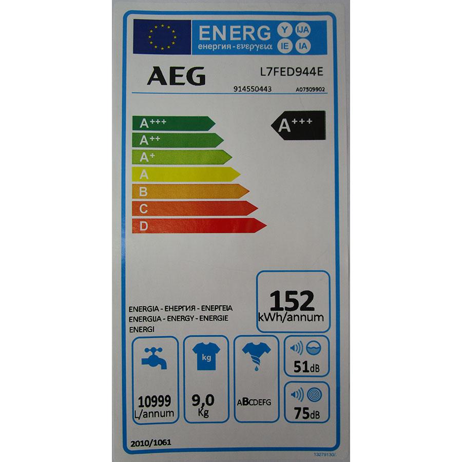 AEG L7FED944E(*10*) - Étiquette énergie