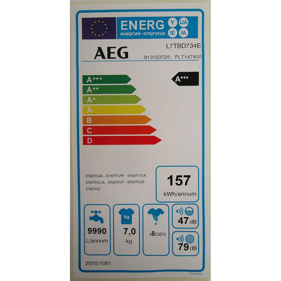 AEG L7TBD734E - Étiquette énergie