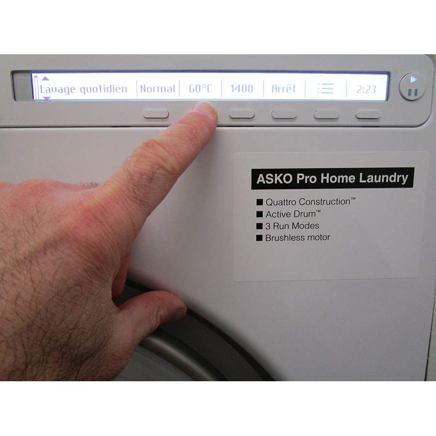 Asko W2086C.W - Touches d'option