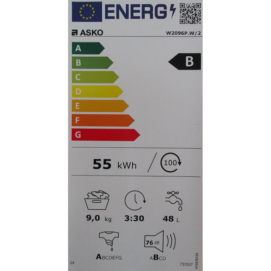 Asko W2096P.W/2 - Nouvelle étiquette énergie