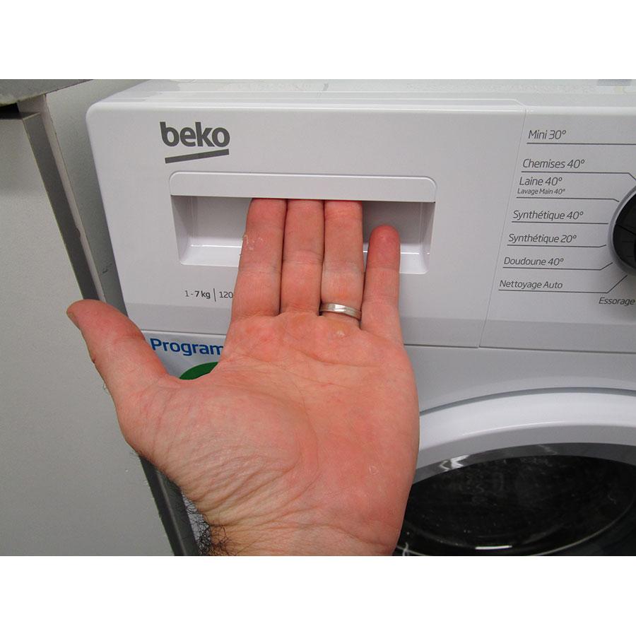 Beko WCA270 - Ouverture du tiroir à détergents