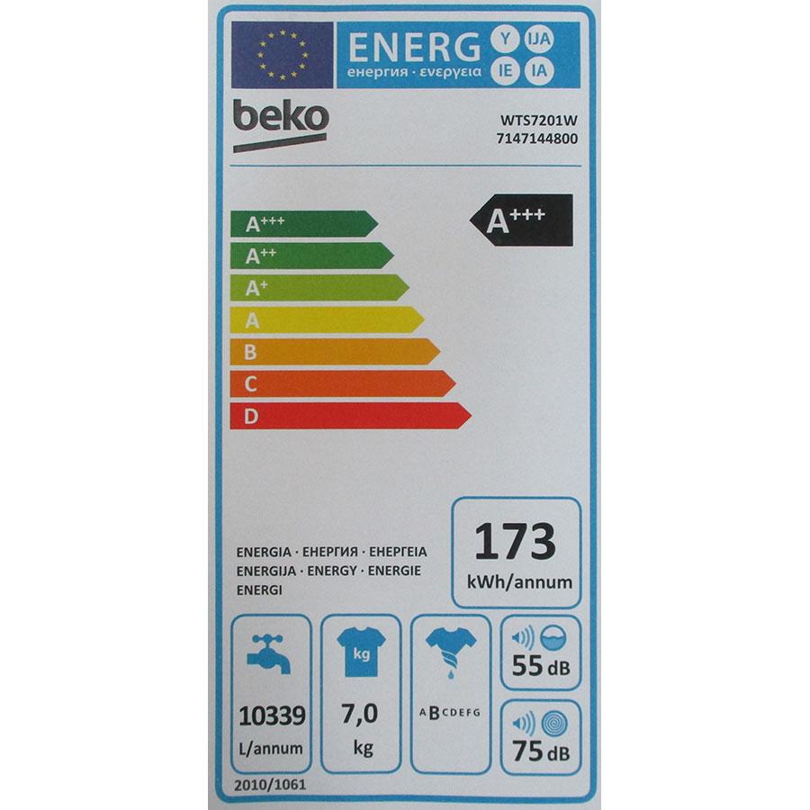 Beko WTS7201W - Étiquette énergie