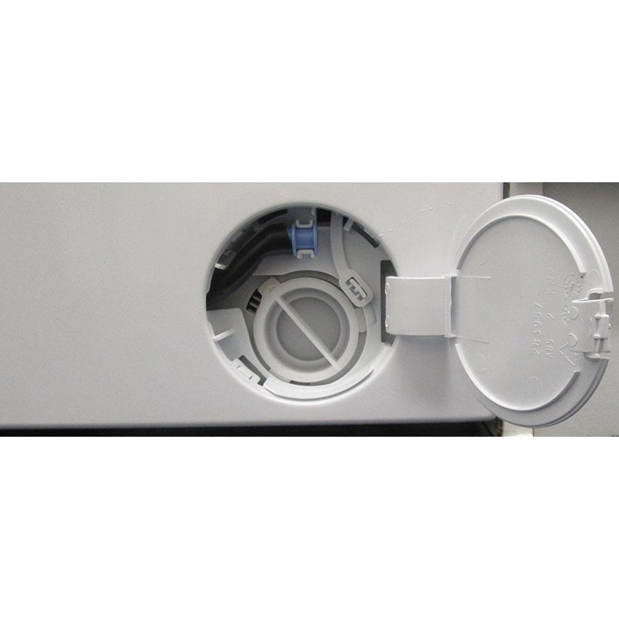 Beko WTV7744XWDOS - Bouchon du filtre de vidange