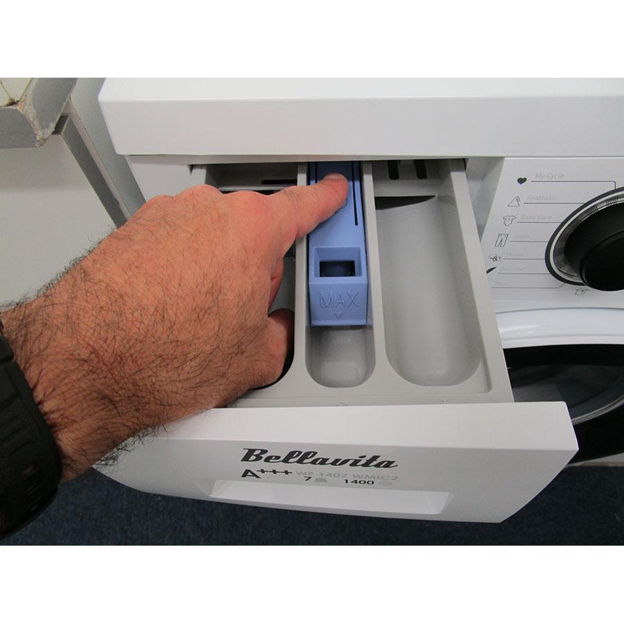 Bellavita (Electro Dépôt) WF1407A+++WMIC2 - Bouton de retrait du bac à produits