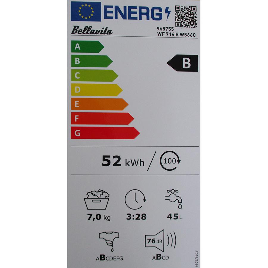 Bellavita WF 714 B W566C - Nouvelle étiquette énergie