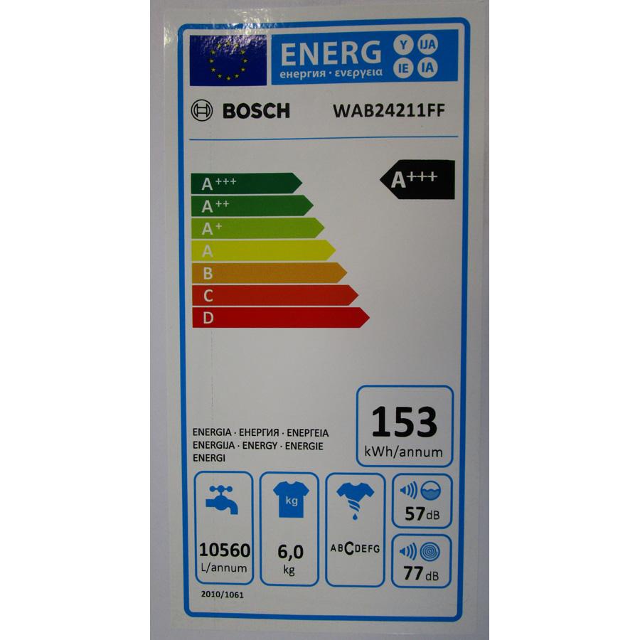 Bosch WAB24211FF - Étiquette énergie