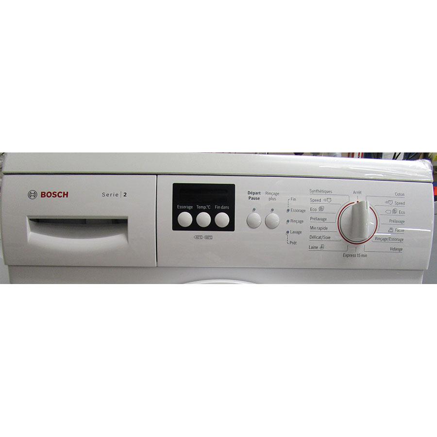 Bosch WAE28217FF Série 2 - Panneau de commandes