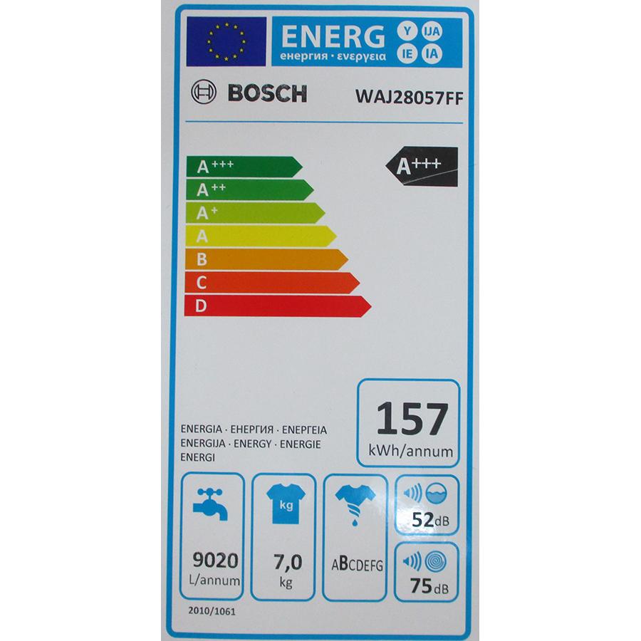 Bosch WAJ28057FF - Étiquette énergie