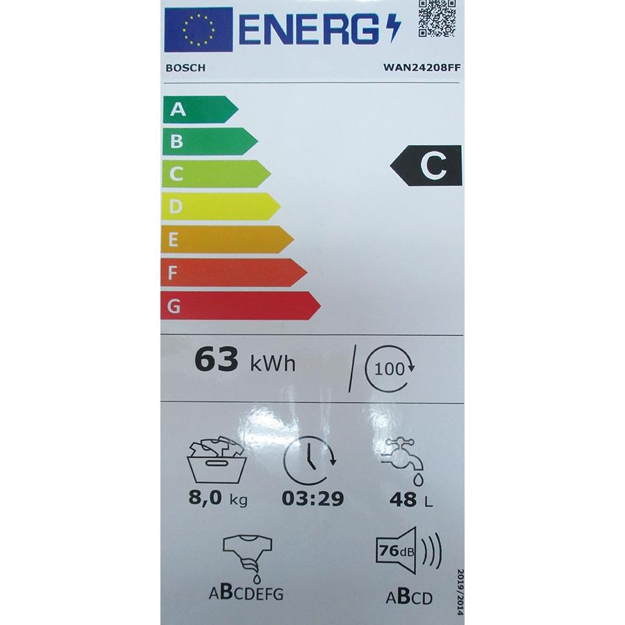Bosch WAN24208FF - Nouvelle étiquette énergie