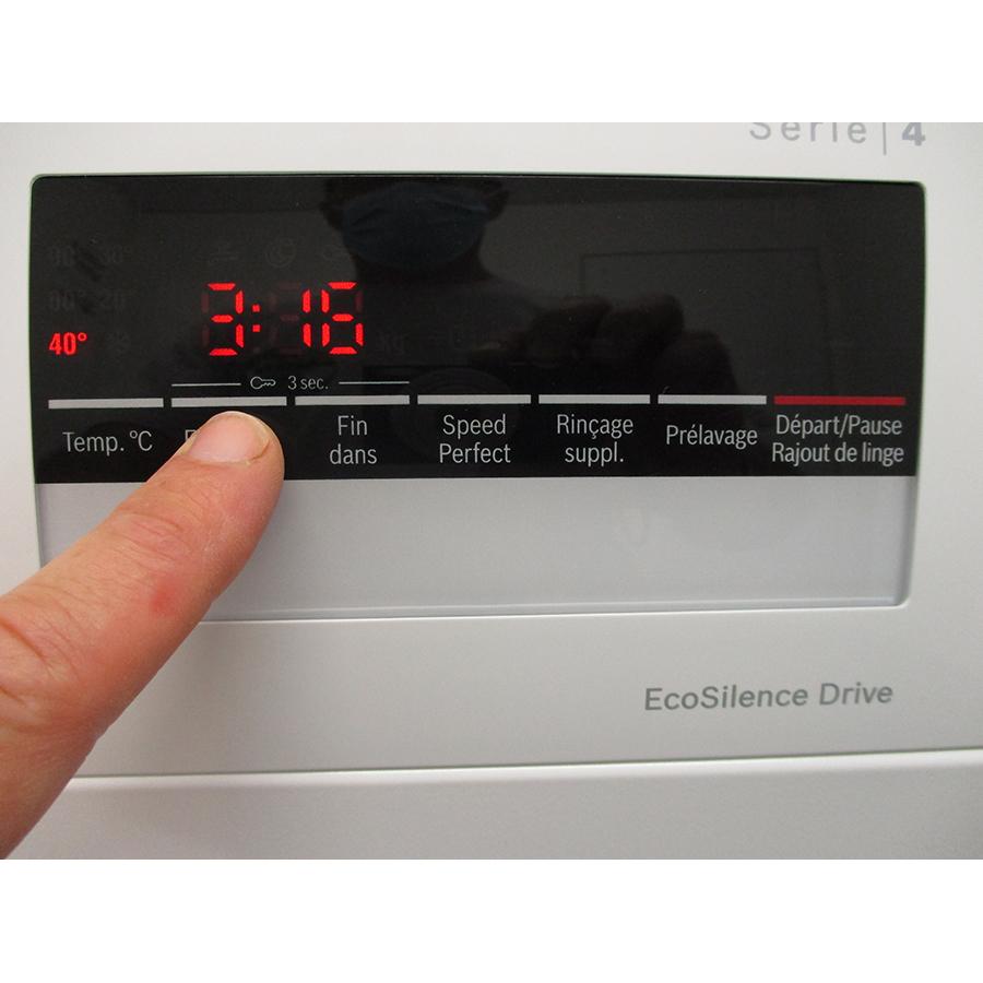Bosch WAN24208FF - Afficheur et touches d'options