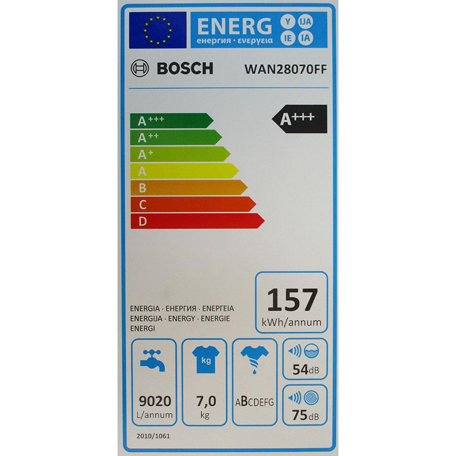 Bosch WAN28070FF - Étiquette énergie