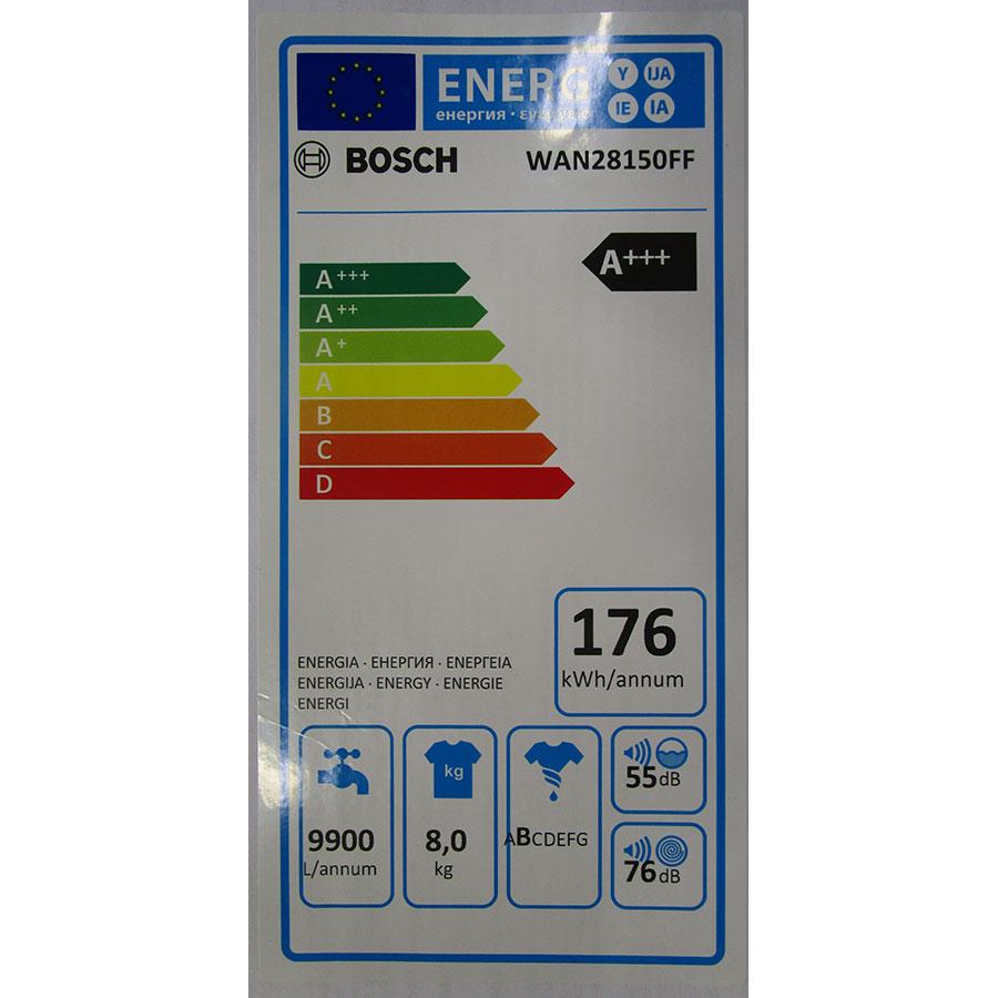 Bosch WAN28150FF Série 4 - Étiquette énergie