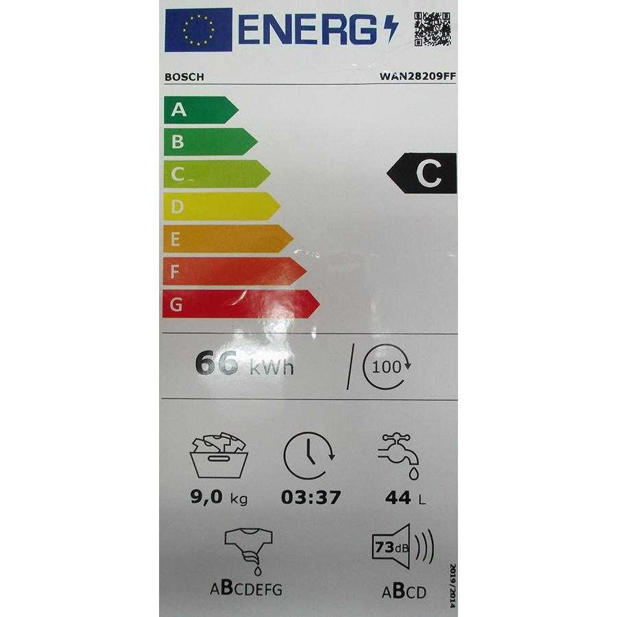 Bosch WAN28209FF - Nouvelle étiquette énergie