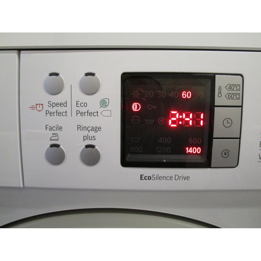 Bosch WAQ28483FF  - Afficheur et touches d'options