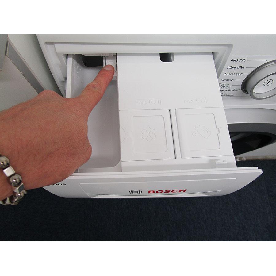 Bosch WAT28618FF i-Dos - Bouton de retrait du bac à produits