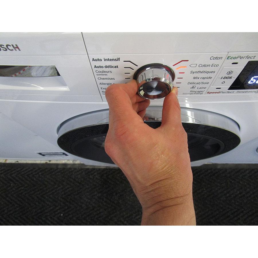 Bosch WAWH2660FF Home Connect Série 8(*34*) - Visibilité du sélecteur de programme