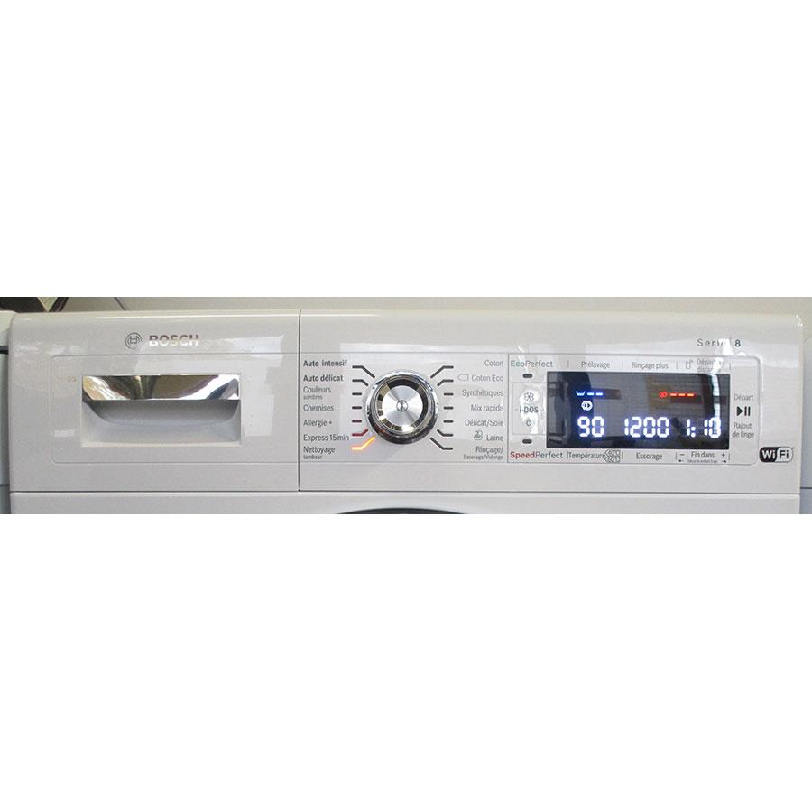 Bosch WAWH2660FF Home Connect Série 8(*34*) - Panneau de commandes