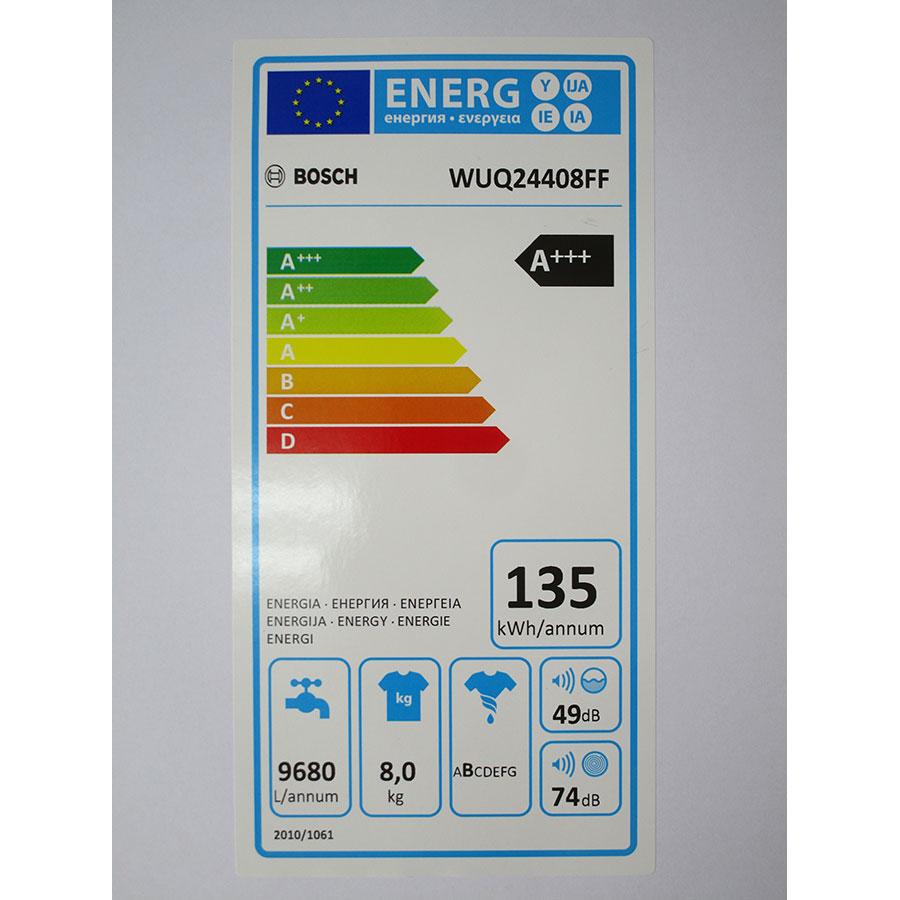 Bosch WUQ24408FF - Étiquette énergie