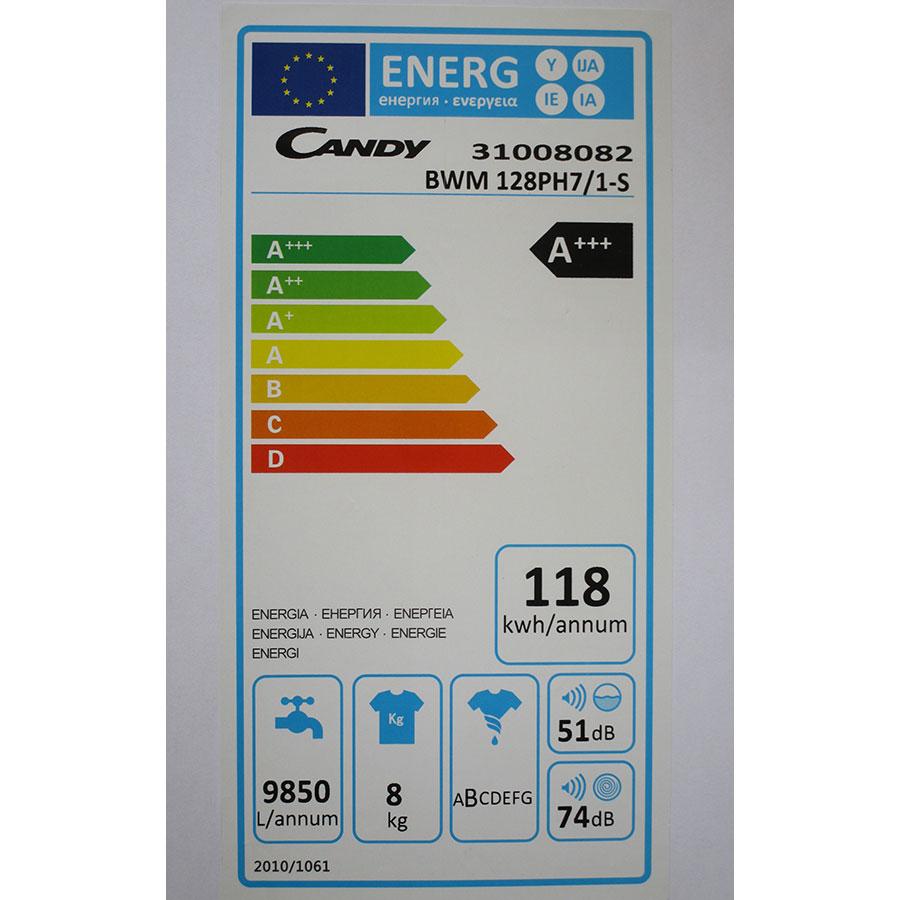 Candy BWM128PH7/1-S - Étiquette énergie