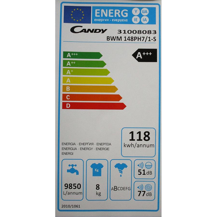 Candy BWM148PH7/1-S - Étiquette énergie