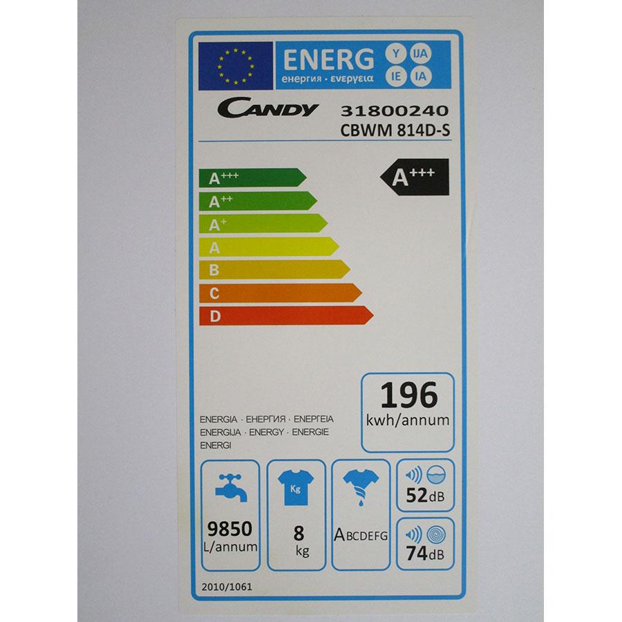 Candy CBWM814D-S - Étiquette énergie