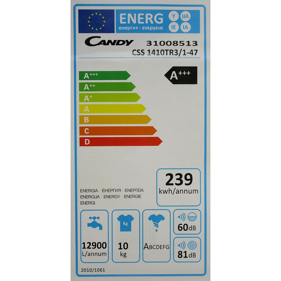 Candy CSS1410TR3/1-47 - Étiquette énergie