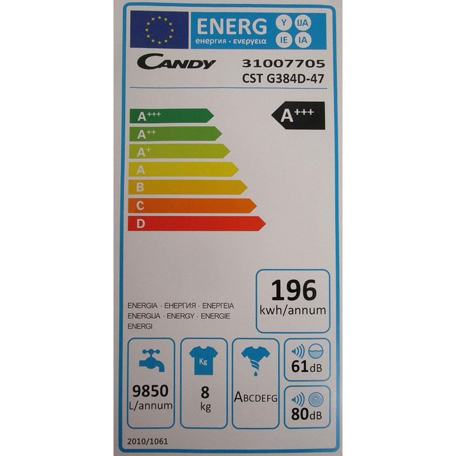 Candy CSTG384D - Étiquette énergie