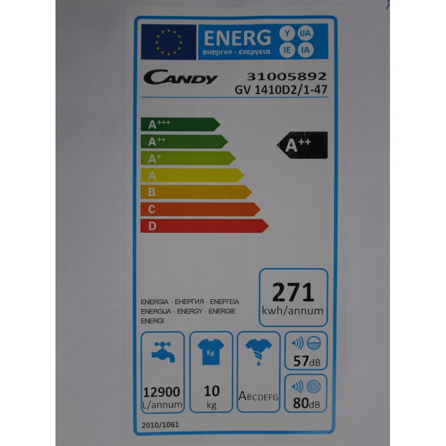 Candy GV1410D2 /1-47 - Étiquette énergie