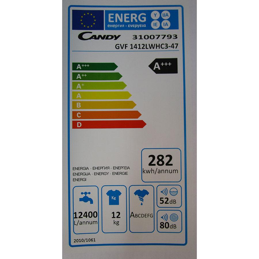 Candy GVF1412LWHC3-47 - Étiquette énergie