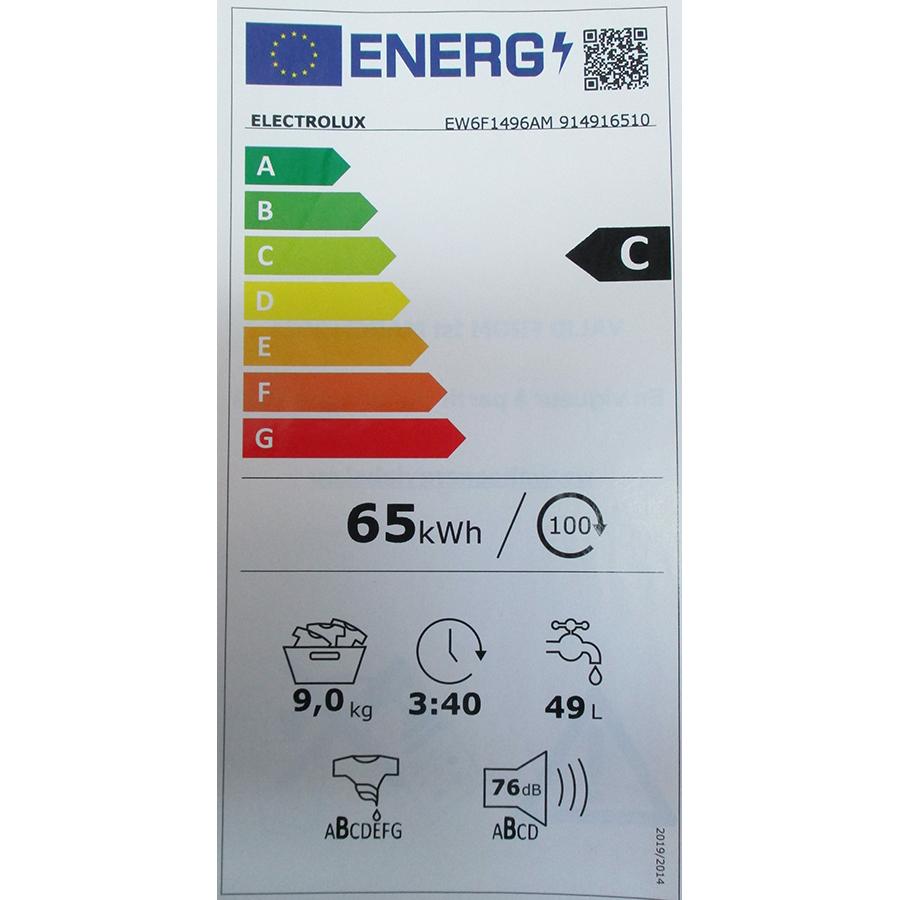 Electrolux EW6F1496AM - Nouvelle étiquette énergie