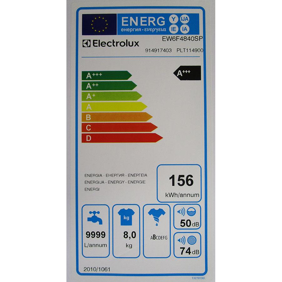 Electrolux EW6F4840SP(*10*) - Étiquette énergie