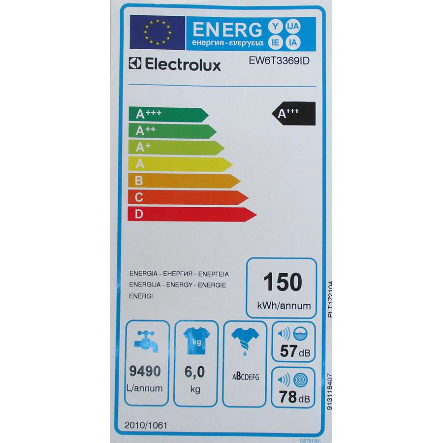 Electrolux EW6T3369ID - Étiquette énergie