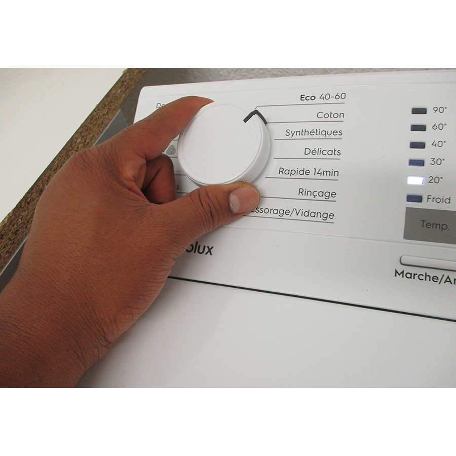 Electrolux EW6T3369ID - Visibilité du sélecteur de programme