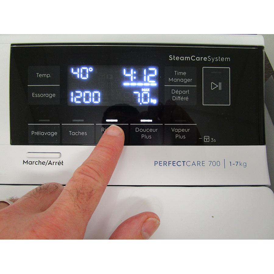 Electrolux EW7T3463IK - Afficheur et touches d'options