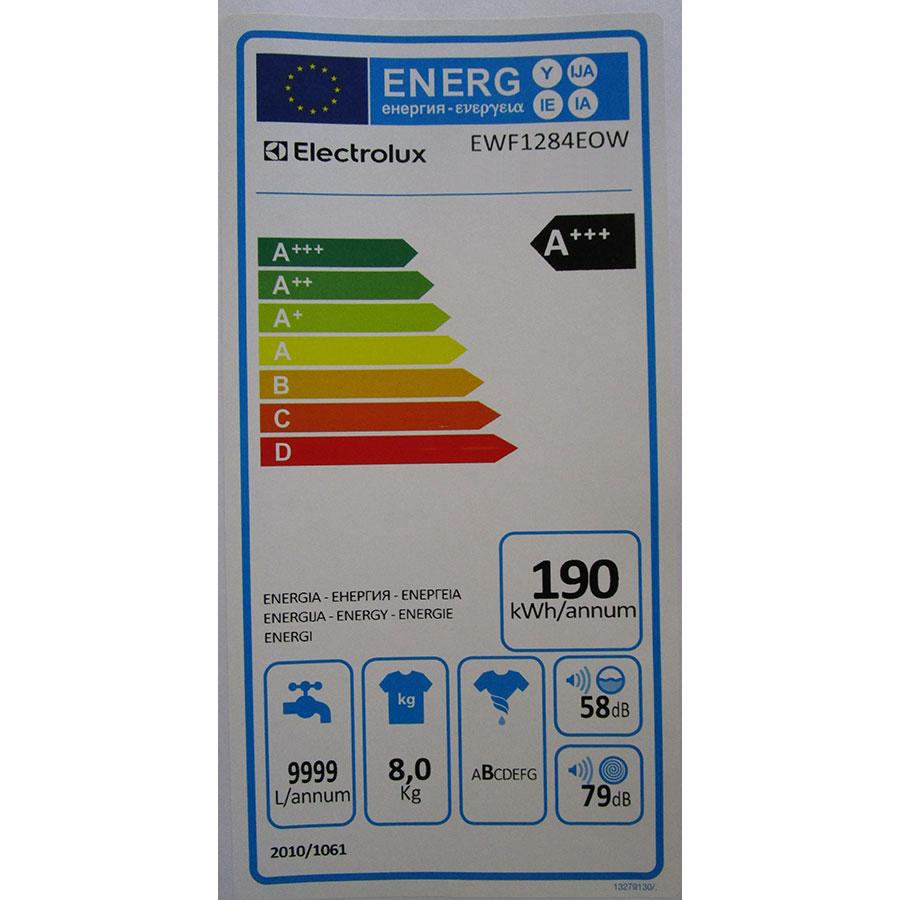 Electrolux EWF1284EOW(*10*) - Étiquette énergie