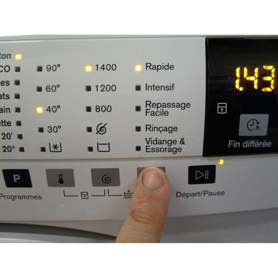 Electrolux EWF1404RA - Touches d'option