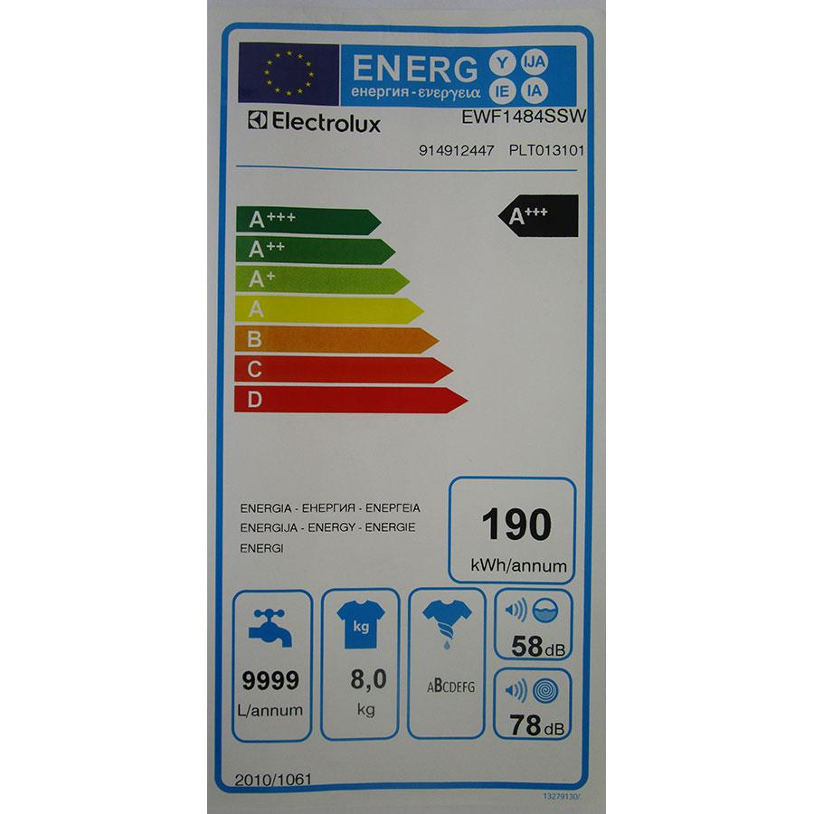 Electrolux EWF1484SSW - Étiquette énergie