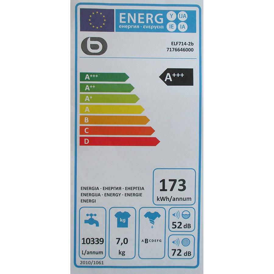 EssentielB (Boulanger) ELF714-2b - Étiquette énergie