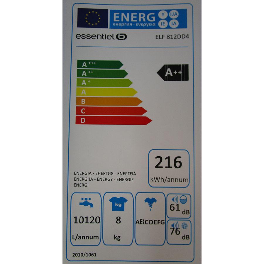 EssentielB (Boulanger) ELF812DD4 - Étiquette énergie