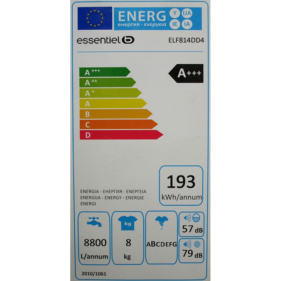 EssentielB (Boulanger) ELF814DD4 - Étiquette énergie