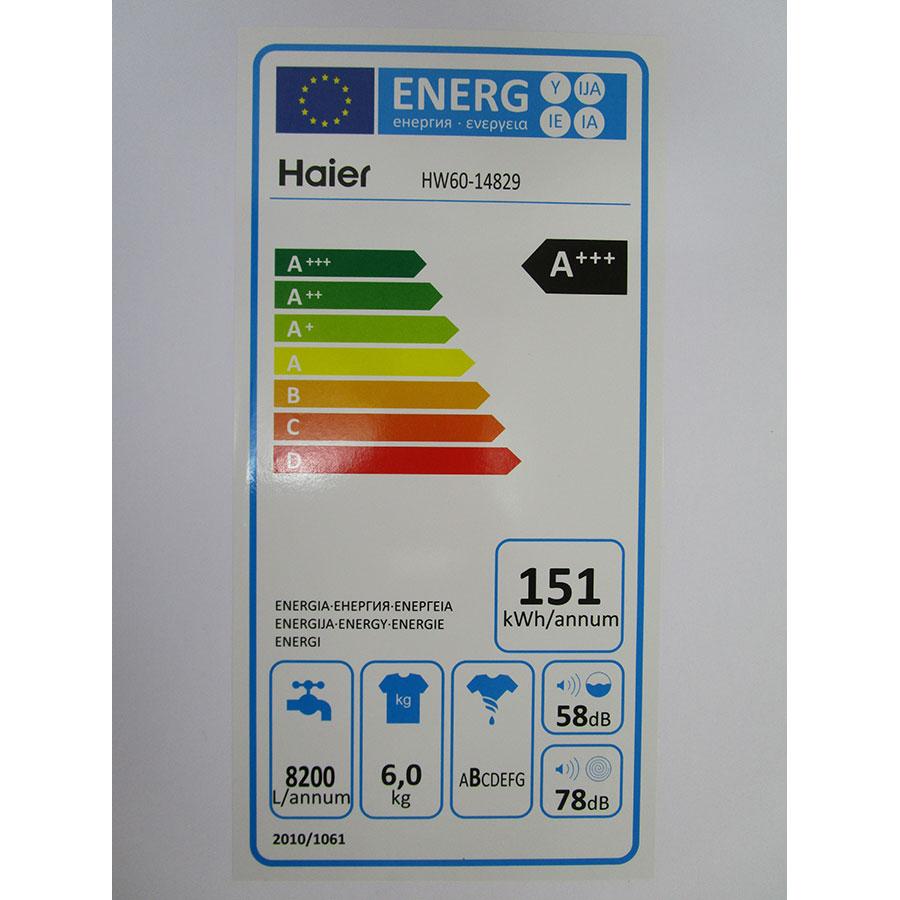 Haier HW60-14829 - Étiquette énergie