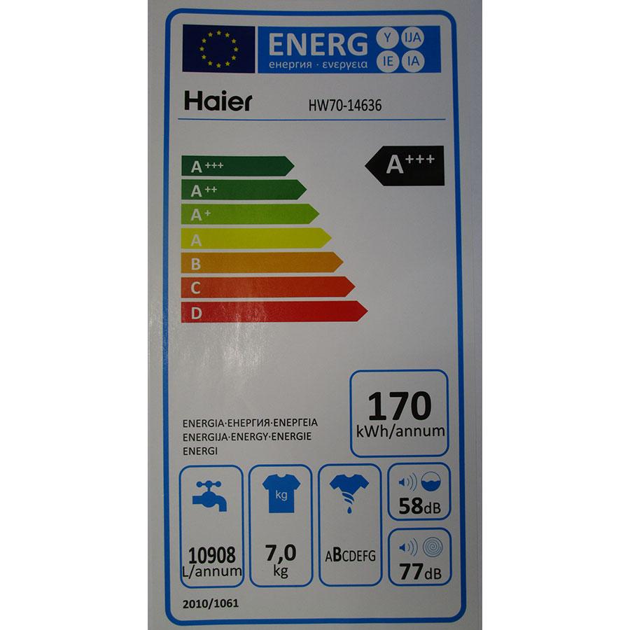 Haier HW70-14636  - Étiquette énergie