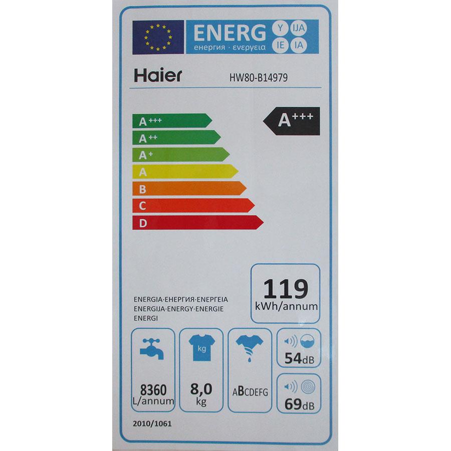 Haier HW80-B14979 I-Pro Series 7 - Étiquette énergie